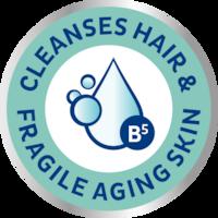 Šampoon-dušigeel TENA ProSkin Shampoo & Shower puhastab juuksed ja hapra eaka naha.