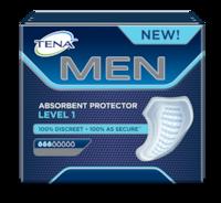 TENA MEN upijajući štitnik razina 1 – Sigurni upijajući štitnici za muškarce za slabo istjecanje urina i inkontinenciju